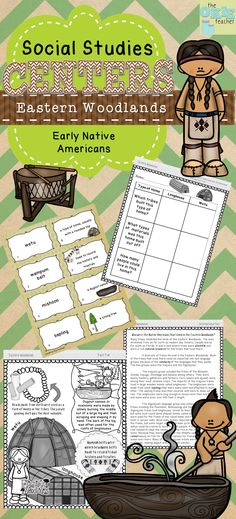 Eastern Woodlands Early Native Americans Unit. Graphic Organizer, Informational Text and notebooking!