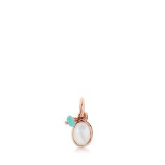 4f3e14c73bb1 Colgante Tiny de Plata Vermeil rosa con Rodonita y Perla