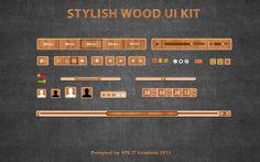 Free Stylish Wood UI Kit