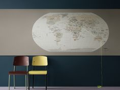 Bulletin Board - Exceptional durability and a sustainable footprint - Forbo Flooring Systems - 2182 potato skin #design #interior #inspiration #livingroom #classroom #decor #office #pinboard #pintit #thoughts #worldmap #travel #green #blue #Brown #map