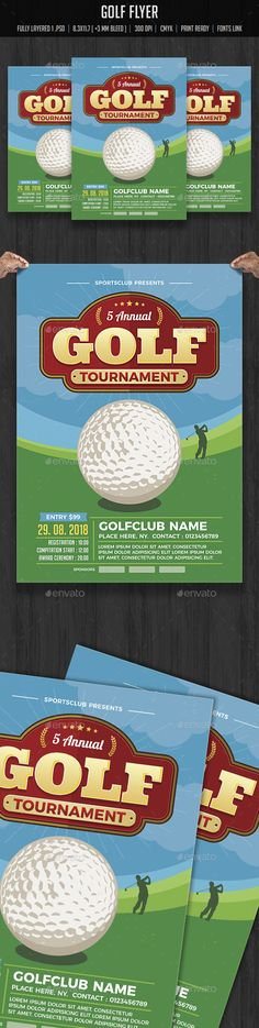 Back to School College Flyer Mockup and Template - golf tournament flyer template