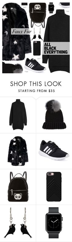 """""""All black - sporty street style"""" by cly88 ❤ liked on Polyvore featuring Isabel Marant, Eugenia Kim, adidas, Les Petits Joueurs, Rebecca Minkoff and Falke"""
