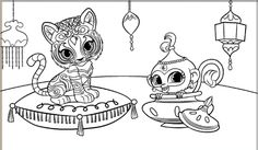 Tala And Nahal Shimmer And Shine Coloring Page