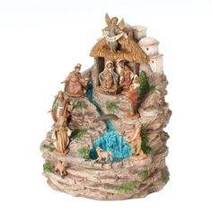 Indoor fountains  - Pin it :-) Follow us, CLICK IMAGE TWICE for Pricing and Info . SEE A LARGER SELECTION of indoor fountains at http://azgiftideas.com/product-category/indoor-fountain/  - Roman Fontanini Working Indoor Fountain Featuring the Holy Family/Animals and 3-King, 10.5 by 8.5-Inch