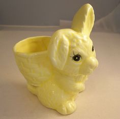 Vintage Egg Cup - Large Bunny Rabbit - English Found on Ruby Lane $20.00