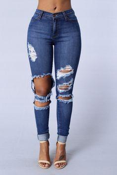 Beach Bum Jeans - Medium Blue I LOVE THIS Jean