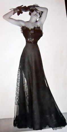 Chanel Strapless Dress - 1938 - House of Chanel - Design by Gabrielle 'Coco' Chanel - Photo Philippe Pottier