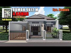 desain rumah 3 kamar tidur ukuran 9x12
