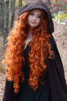 Cosplay Wig Wanted: Long Curly Copper / Orange Merida Very Long Hair, Long Curly Hair, Curly Hair Styles, Beautiful Red Hair, Beautiful Redhead, Amazing Hair, Merida Hair, Brave Merida, Copper Hair