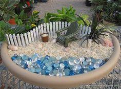 tiny sea coast garden