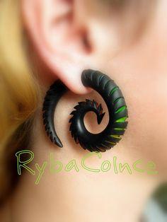 Fake ear gauges / Faux gauge/Gauges earrings / fake by RybaColnce, $26.74