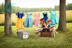 princess laundry day photo session