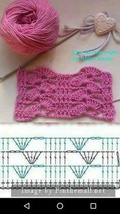 crochet patterns for landscape yarn - landscape yarn crochet patterns . crochet patterns for landscape yarn . Crochet Motifs, Crochet Stitches Patterns, Crochet Diagram, Crochet Squares, Crochet Chart, Filet Crochet, Crochet Designs, Easy Crochet, Knitting Patterns