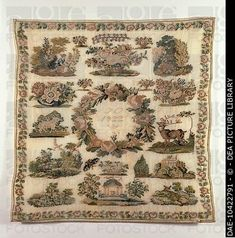 A 19th Century German Biedermeier Sampler Dated 1822 ~ DEA PICTURE LIBRARY