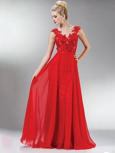 Lace Sexy Red Prom Dresses #dressfashion