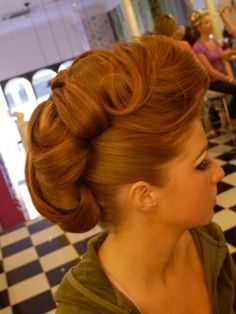 Retro tucked updo hairstyle