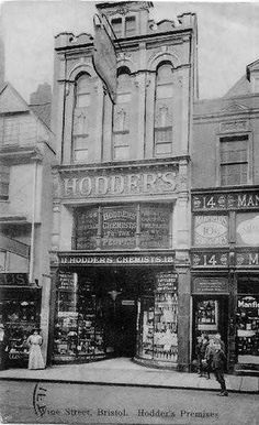 1913 Wine Street Hodder's the chemist Bristol Bristol England, Bank Of England, City Of Bristol, Clifton Bristol, Old Pictures, Old Photos, Vintage Photographs, Vintage Photos, English Architecture