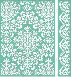 Cuttlebug x Embossing Folder & Border, Ogee Damask - Anna Griffin Stencil, Cuttlebug Embossing Folders, Paisley Art, Paisley Pattern, Folder Design, Anna Griffin, Leather Pattern, Scrapbook, Textile Prints