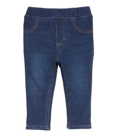 Treggings in thick jersey with mock pockets at front, regular pockets at back, and elasticized waistband.