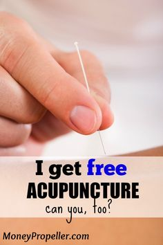 I Get FREE Acupuncture - Can you too?  Don't leave money on the table with your benefits package, get the most out of it!