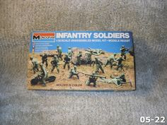 New In Opened Box Vintage Monogram 1/35 Scale Infantry Soldiers Kit #6304 1982 | eBay