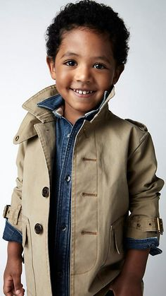 burberry kids. Will the turned-up collar ever get old?