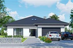 My House Plans, Bungalow House Plans, House Architecture Styles, Residential Architecture, Modern Family House, House Games, House Paint Exterior, House Painting, My Dream Home