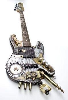 Steampunk Bass Guitar #BassGuitar