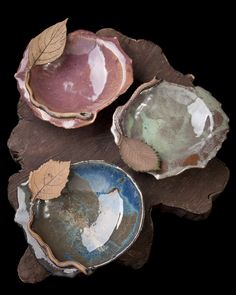 Black Cat Pottery: Applied Leaf Bowls: Teaching a Workshop