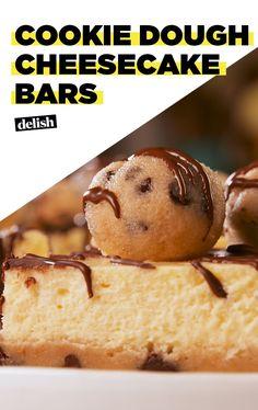 Cookie Dough Lovers Need These Cheesecake BarsDelish