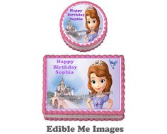 Disney Princess Sophia The First Birthday Party Cake Topper Cupcake Decoration | eBay