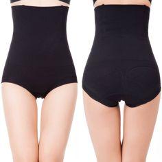 e4890b3c0af Womens Shapewear Panties High Waist Brief Tummy Control Butt Lifter Panty  Shaper Small Black