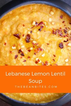 This fresh Lebanese lemon lentil soup is a hearty soup perfect for springtime. Flavored with turmeric and garlic, it's a creamy lemon lentil soup that is also vegetarian and vegan.