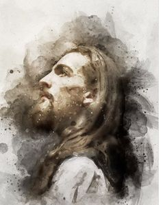 Jesus Christ Painting, Jesus Christ Drawing, Paintings Of Christ, Jesus Artwork, Lds Art, Bible Art, Catholic Art, Religious Art, Jesus Drawings