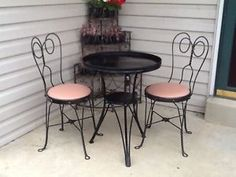 Vintage Ice Cream Parlor Chair Wrought Iron Twisted
