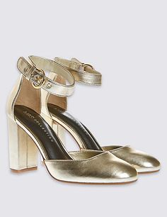 2 Part Block Heel Court Shoes with Insolia®   M&S