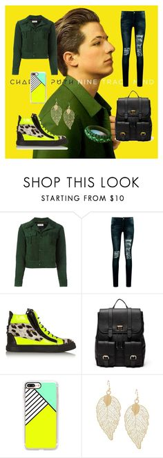 """""""Charlie Puth"""" by stripes21 ❤ liked on Polyvore featuring Yves Saint Laurent, Boohoo, Giuseppe Zanotti, Sole Society, Casetify and NOVICA"""