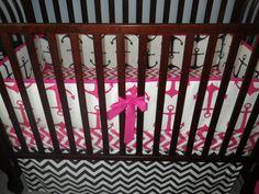 A personal favorite from my Etsy shop https://www.etsy.com/listing/129945346/custom-crib-bedding-you-design-bumper