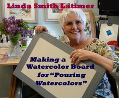 Making a lightweight Watercolor Board for Stretching Watercolor Paper and Pouring Wa...