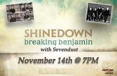 Little Rock AR it's your turn to see @Shinedown at @theverizonarena! Who's going?!