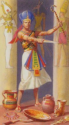 I - Le magicien - Ramsès : Tarot de l'éternité par Severino Baraldi