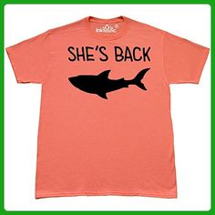 Inktastic - Shes Back Mary Lee the Great White T-Shirt Large Retro Heather Coral - Retro shirts (*Amazon Partner-Link)