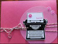 Stampin' Up! You're My Type in pink - The Stamper