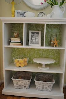 turning a toddler's bookcase into an entry table