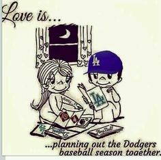 Luv is....#GoooooooDodgers