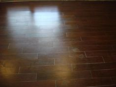 Wood tile floor
