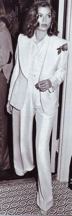 #suit #BIANCA JAGGER