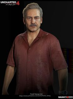 Uncharted 4 character - Victor Sullivan I am very honored to be the lead character artist on Uncharted 4 - A Thief's End. This is one of the main character i did. Art director - Neil Druckmann Concept was done by Hyoung Man I did the head and hand Nathan Drake, Victor Sullivan, Saga, Jak & Daxter, Uncharted Series, A Thief's End, Cyberpunk 2020, Third Person Shooter, Motion Capture