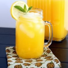 Mango Lemonade - Fresh sweet mango mixed into tart lemonade – the perfect beverage for summer!