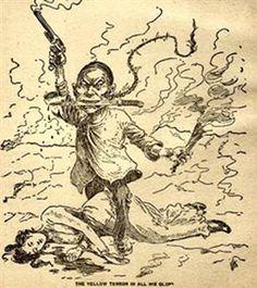 Yellow Peril - racist Anti-Chinese propaganda Wild West U. In China, Study History, History Books, Chinese American, American History, American Women, Chinese Propaganda, Yellow Peril, Chinese Posters